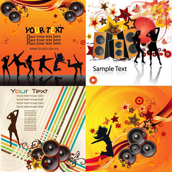 eps format, including jpg preview, keyword: Vector music, party, dance ...
