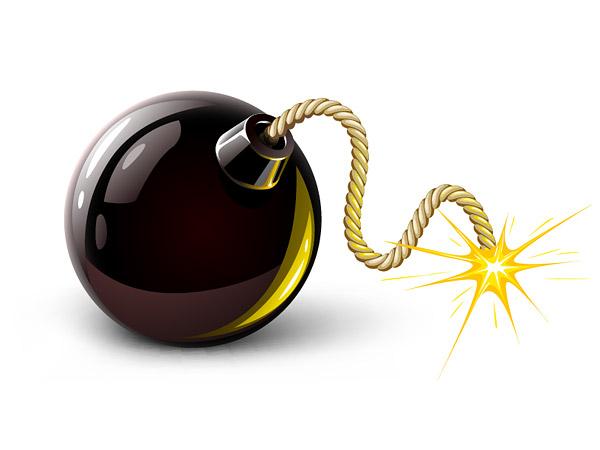 Bomb Icon Vector Keyword Vector Sparks Bomb