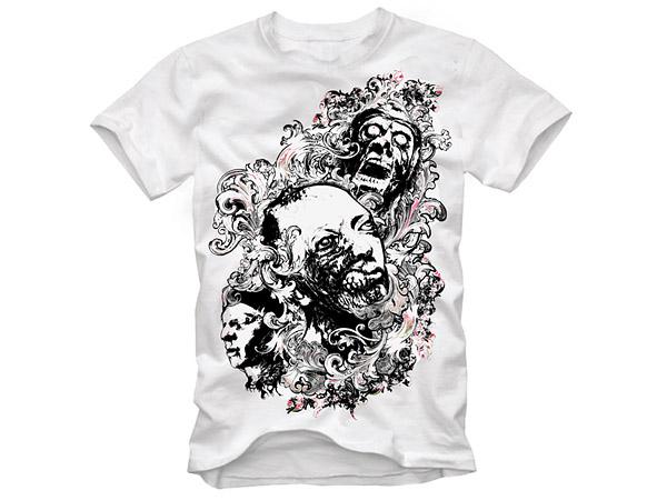 T shirt design vector material download free vector psd for T shirt design materials