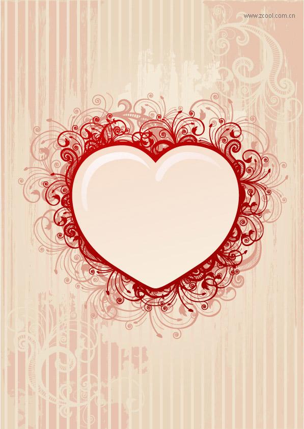 love heart vector. Vector pattern keyword love