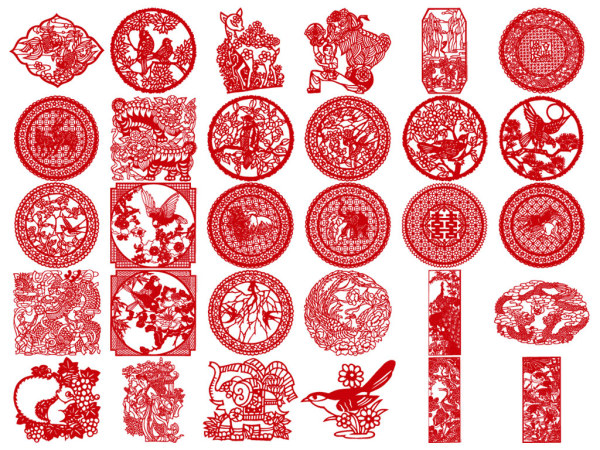 chinese paper cutting templates dragon - classical pattern vector download free vector psd flash