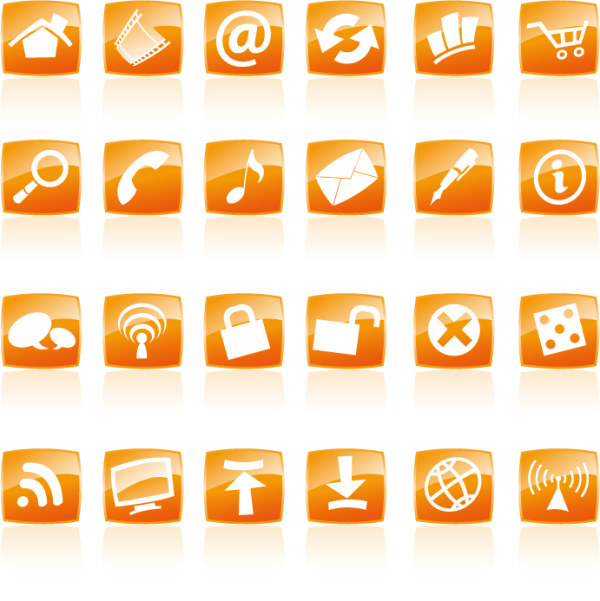 Graphichive Net: Orange Page Icons Vector Download Free Vector,PSD,FLASH,JPG--www.fordesigner.com