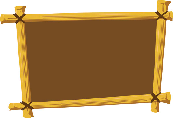 Wooden Frame Vector Material Download Free Vector,PSD