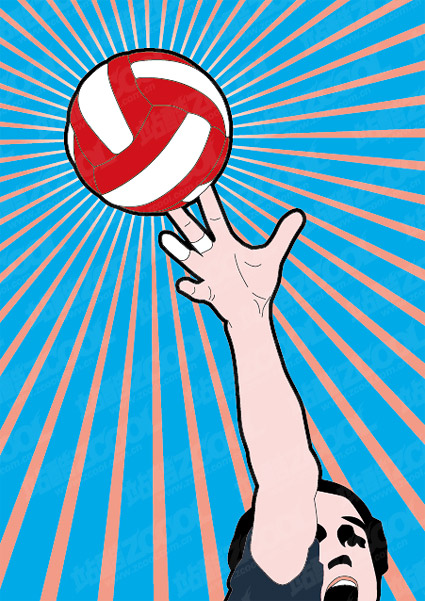 Volleyball vector material
