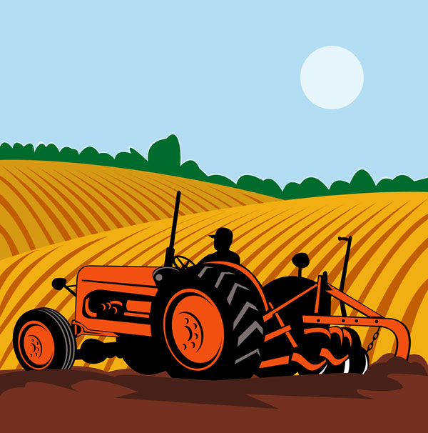 Farming Machinery Field Vector Over Millions Vectors