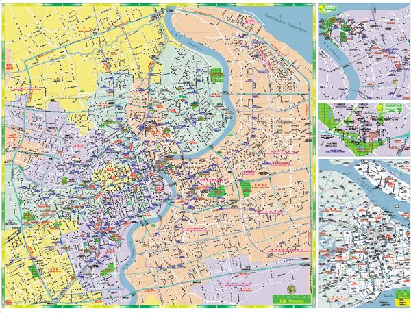 Shanghai Street Map Keyword Map of Shanghai Map of