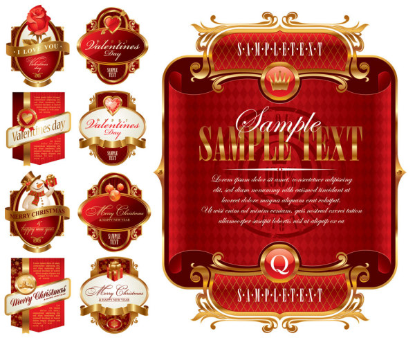 Holiday label vector material