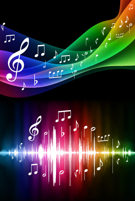 Background note acoustic sound Keyword Symphony dynamic line vector ...