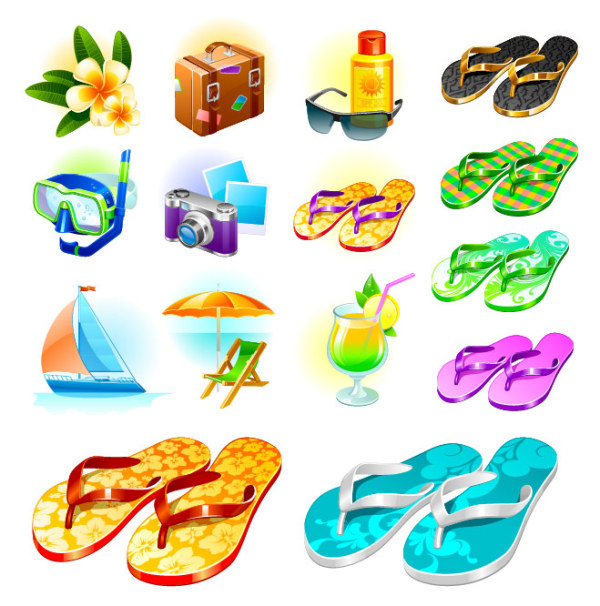 Vector material sea travel goods Download Free Vector,PSD ...