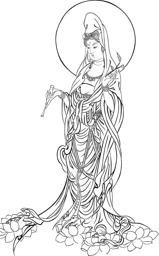 Bodhisattva of Mercy (vector tracing)