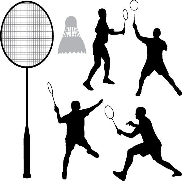 Badminton Players Rackets Badminton Racket Vector Free
