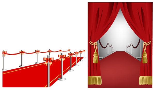 Red Carpet Curtain Vector Source Material Download Free