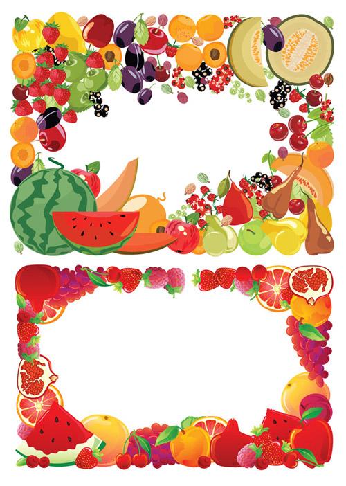 2 fruit border vector � over millions vectors stock