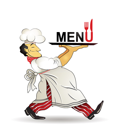Catering Menu Chef Vector