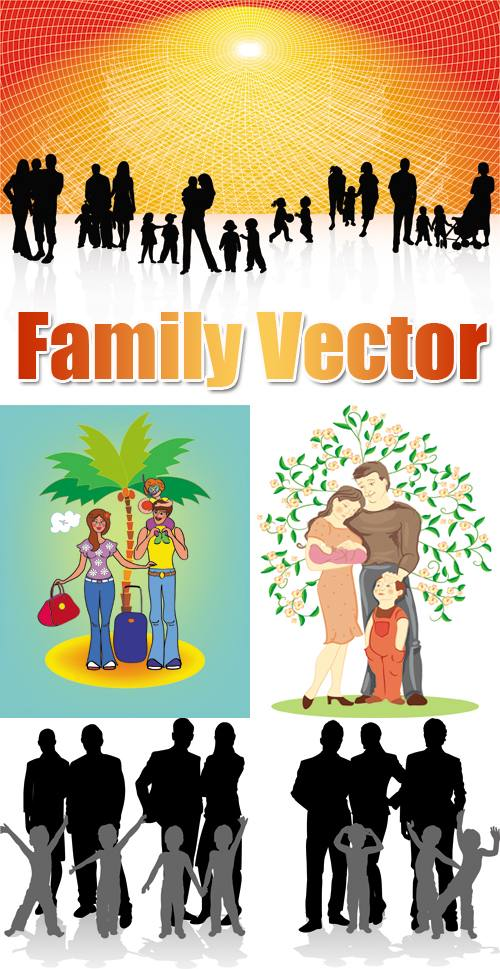 vector family download free vector psd flash jpg