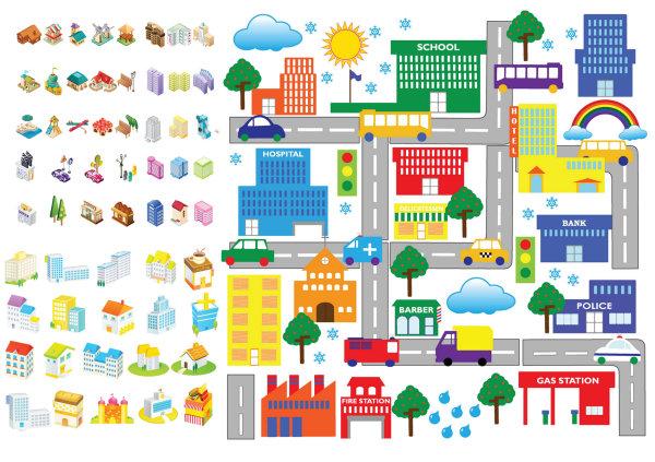 Cartoon Building Icon Vector