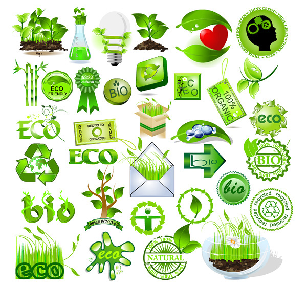 green element vector material download free vector psd