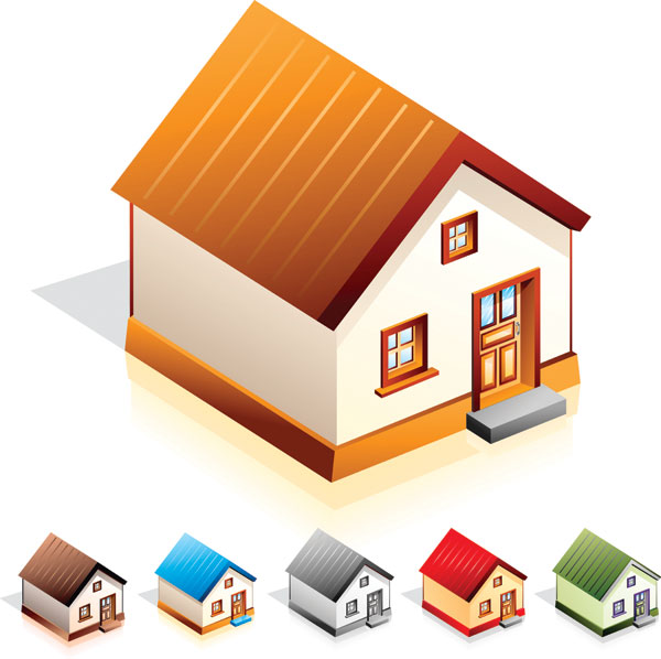 little house icon vector material download free vector psd flash jpg. Black Bedroom Furniture Sets. Home Design Ideas