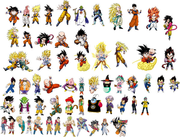 Cartoon Dragon Ball z Characters Dragon Ball Character Vector