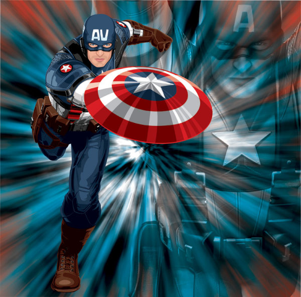Captain america vector over millions vectors stock photos hd captain america vector toneelgroepblik Image collections