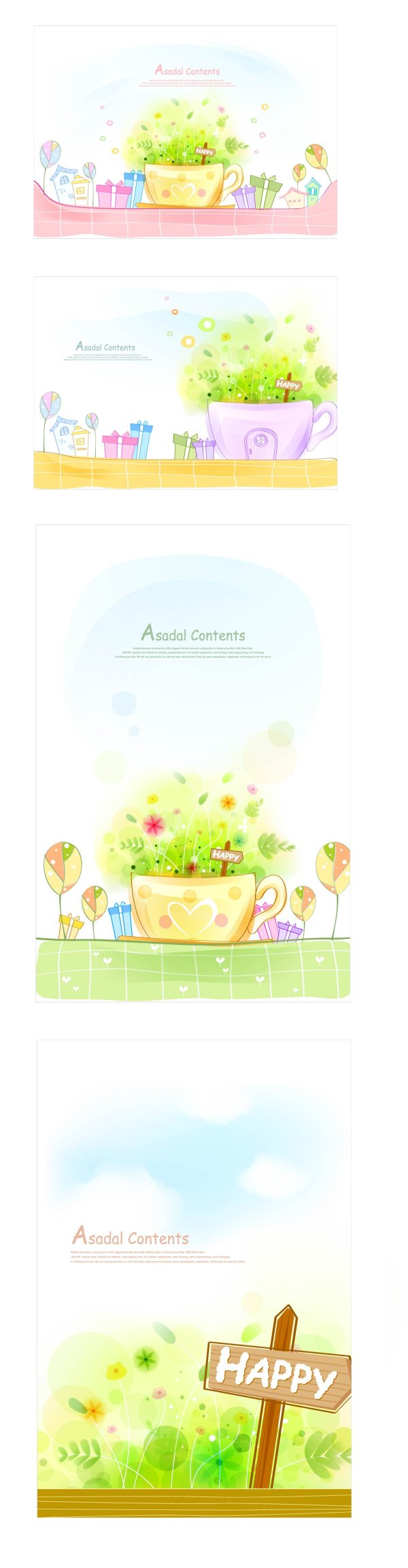 warm and sweet Vector background