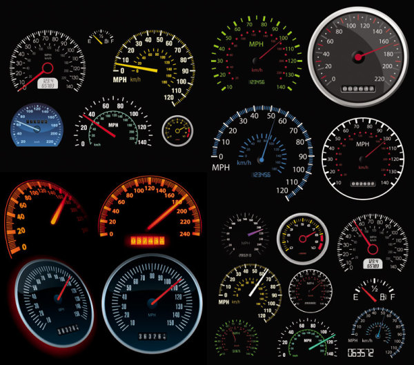Automobile Mileage Rate Table Vector Download Free