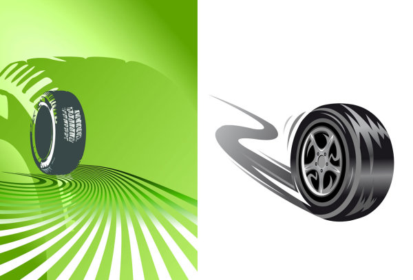 Tires Vector Material 1 Download Free Vector Psd Flash