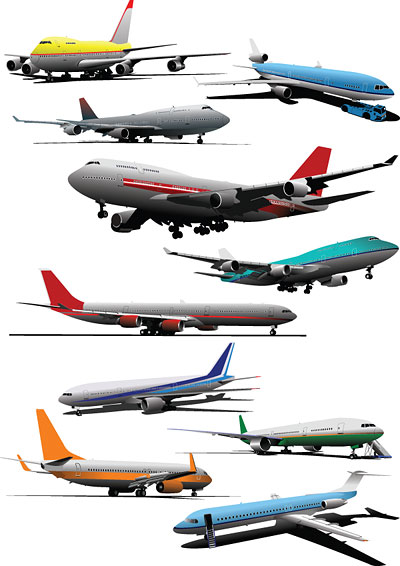 aircraft vector material download free vectorpsdflash