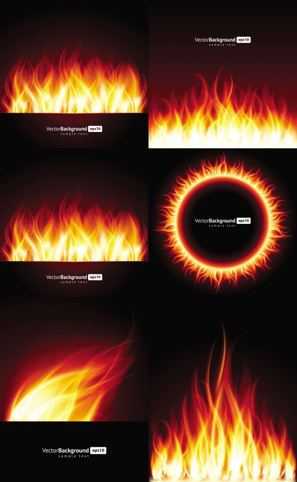 Beautiful Flame Vector Download Free Vector Psd Flash
