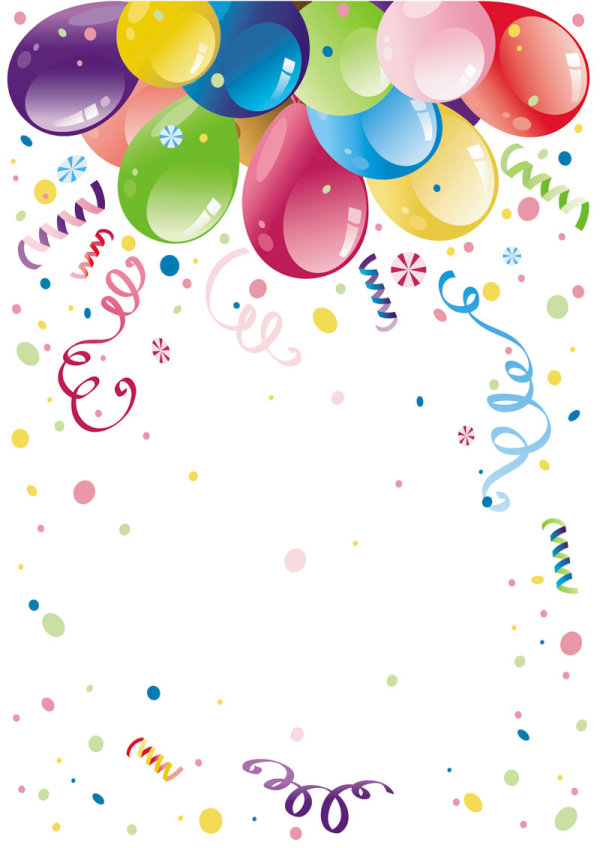 Beautifully Colored Balloons 02 Vector Download Free