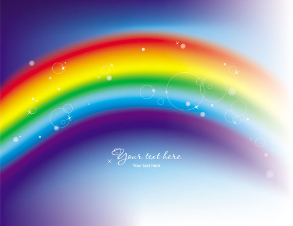 Beautiful Rainbow Symphony 02 Vector Download Free