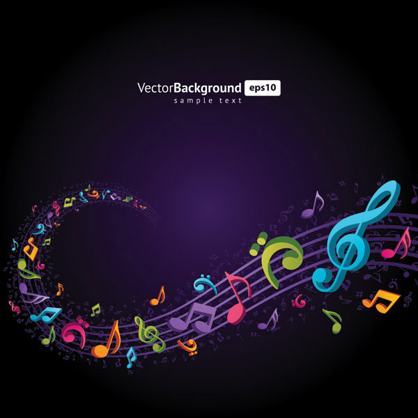Theme music notes vector material 4 over millions vectors stock theme music notes vector material 4 toneelgroepblik Gallery