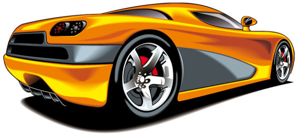 Beautiful sports car 04 vector material download free vector psd
