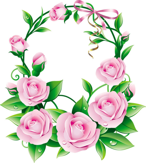Beautiful flowers 05-- vector material