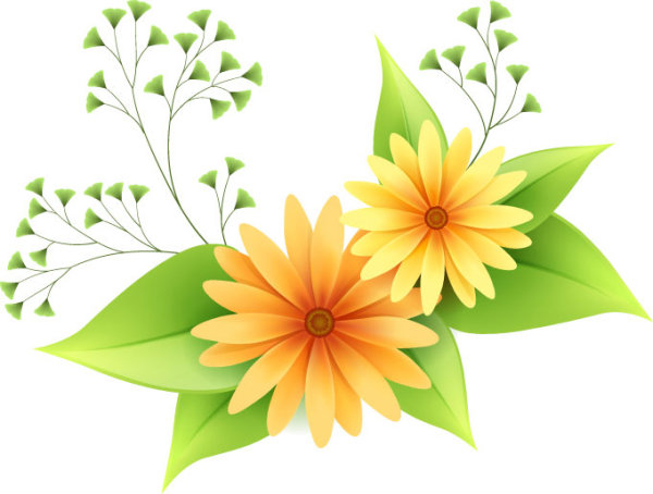 Beautiful Small Flowers Vector Material 1 Over Millions