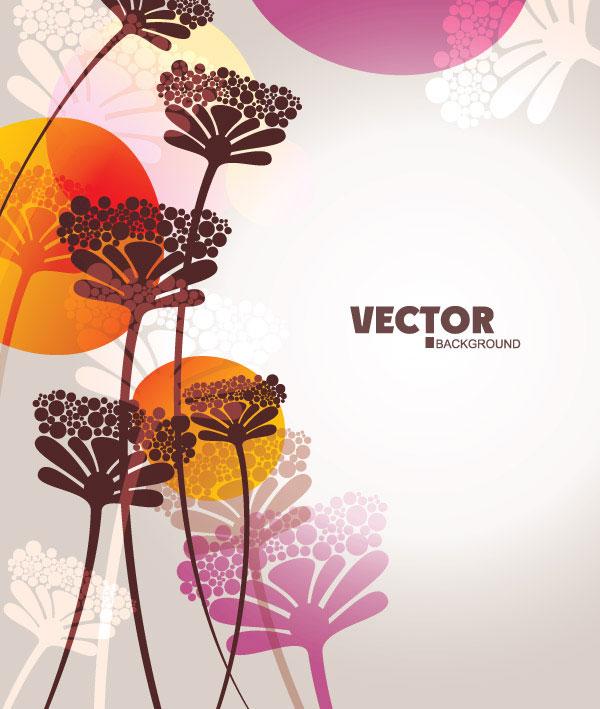 Lovely flowers vector material -4