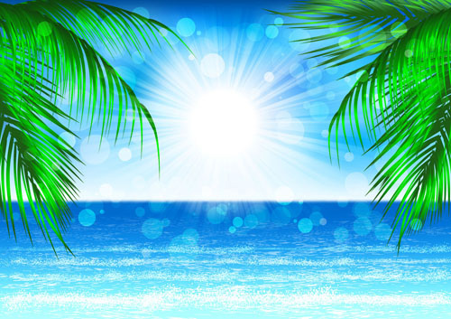 Beautiful coastal scenery - vector