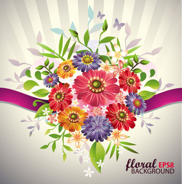 Beautiful bouquets 03 - vector