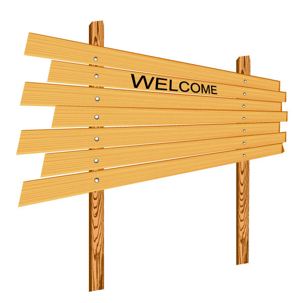 Cartoon Wood Board ~ Cartoon wooden signs vector material download free