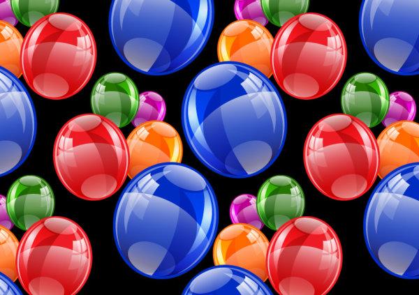 Renkli Baloncuklar Vektörel