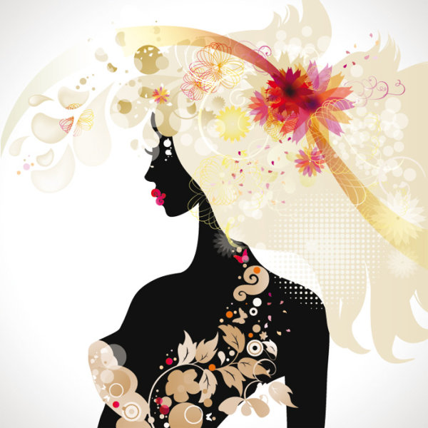 Fashionable Beauty Silhouette 03 Vector Download Free