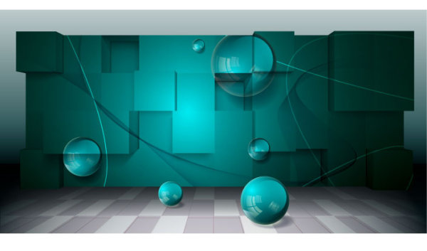 Three-dimensional creative business space background vector -3
