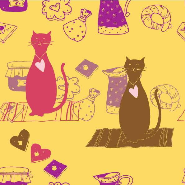 cute cartoon cat background 03 � vector � over millions