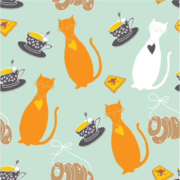 Background Cats Cat Cartoon Background 04