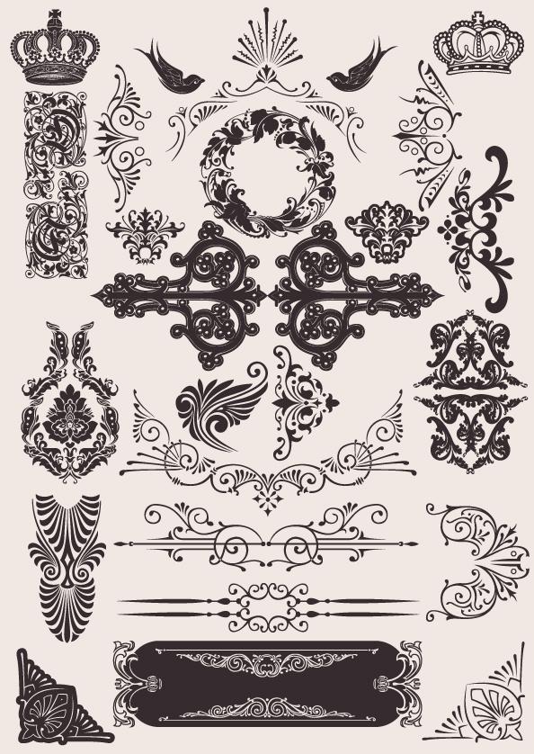 Vector Western Pattern European background pattern