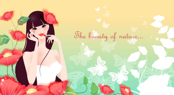 Cartoon beautiful background vector