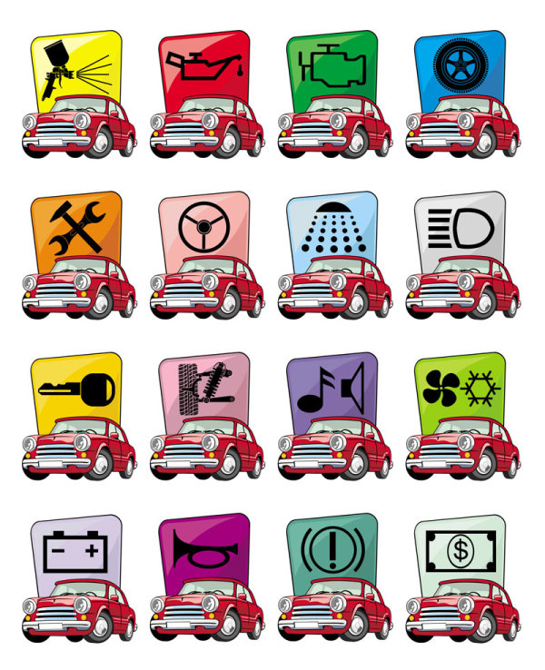 Cartoon car icon - vector