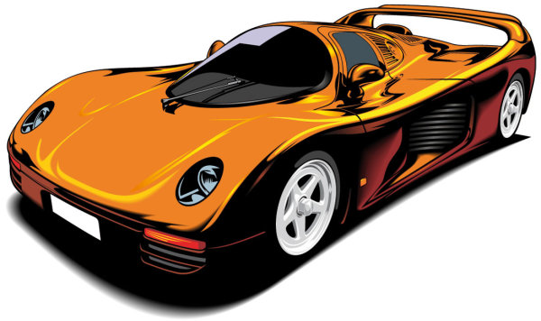 Beautiful Sports Car 02 Vector Download Free Vector Psd Flash Jpg