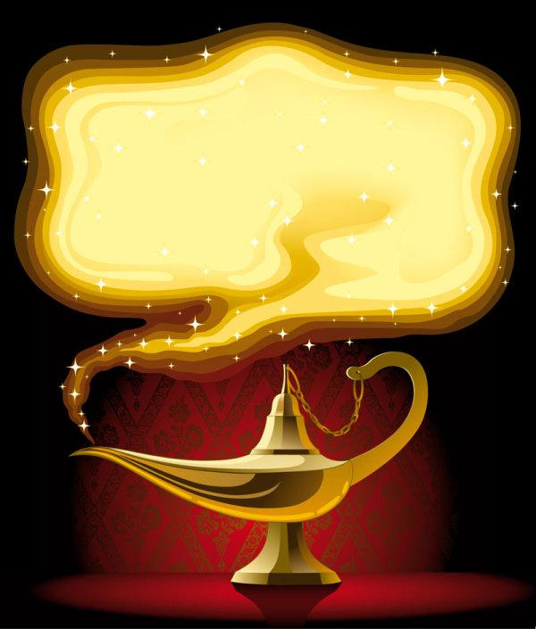 Cartoon Aladdin's lamp - vector Download Free Vector,PSD ...