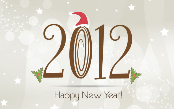 2012 Christmas fonts 01 - vector material